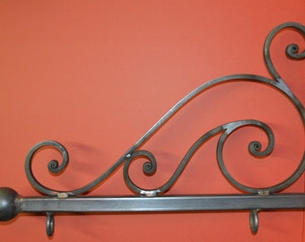 Wrought Iron 24 in., Scroll Sign Bracket, Holder, by Worthington Forge in the U.S.A.