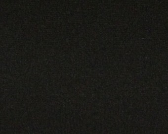 Double Knit Fabric / Black Double Knit Fabric / Black Knit Fabric / Doubleknit / Polyester Knit Fabric / Vintage Double Knit Fabric