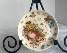 Vintage Nasco Tropicana Bread and Butter or Dessert Plate Made in Japan / Hand Painted Fruit Plate