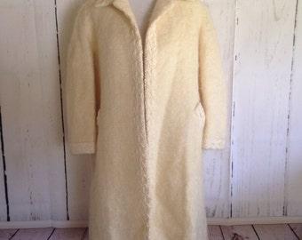 Vintage 60s Cream Winter Coat