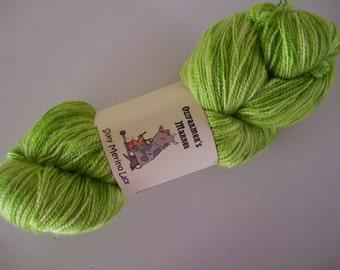 Silky Merino Lace - laceweight semi-solid yarn. 100gm Lime