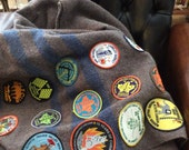 Vintage Boy Scout Wool Blanket With 28 Badges 90s Canadian