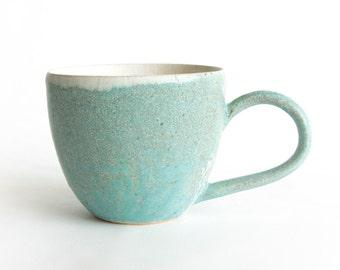 Handmade Pottery Mug - Ceramic Mug - Stoneware Mug - Wheel Thrown Pottery Mugs