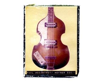 Paul McCartney beatles bass guitar art print / music gift / rock n roll art / music room decor / guitar gift / man cave art