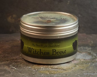 Soy Candle Tin - 8 oz in Witched Brew Scent