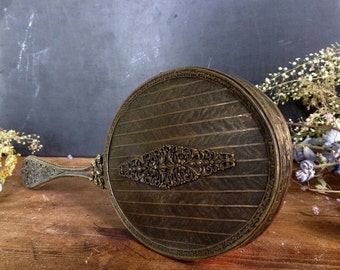 ON SALE Antique Edwardian Hand Held Mirror