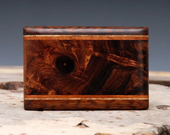 Exotic Wood Inlaid Belt Buckle - Handmade