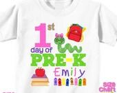 Personalized 1st First Day of Pre-K Preschool Back to School Shirt T-shirt Girl Boy Kids Pre-K School Tee First Day of School Outfit