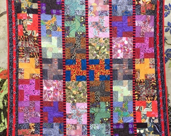A Swag Full of Stories Jelly Roll Quilt Pattern, Australian Indigenous Quilt Pattern