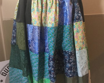 Patchwork Plus Size Skirt