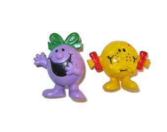 Little Miss Naughty Sunshine PVC figures Roger Hargreaves 1980s 80s toys Arby's fast food toys