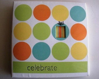 Birthday Girl Scrapbook Kit, 20 Pages.  Small Birthday Party Celebration Colorful Scrapbook Complete DIY