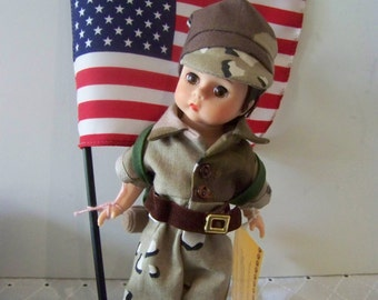 welcome home 8 in madame alexander doll with flag