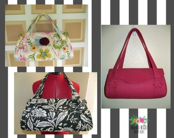 Amanda Nicole Custom Amy Butler Blossom Bag - Shoulder Bag - Shoulder Purse - Floral Purse - Amy Butler Purse - Custom Purse
