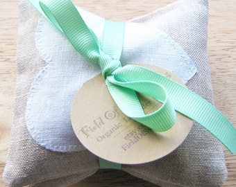 Balsam Sachets with Natural Linen and White Linen Balsam Fir Gift Fresh Christmas Tree Forest Scent