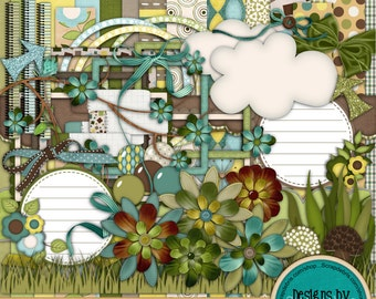 Instant Download ~Spring's Song~ Digital Scrapbook Kit