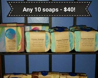 Pick any 10 soaps!