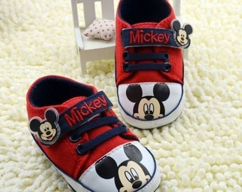 Baby Boy Crib mickey mouse shoes