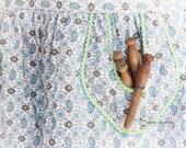 Farmhouse Laundry Decor, Aqua Wall Art, Clothespin Photography Print, Cottage Chic Decor, Turquoise White Yellow | 'Apron Pocket'