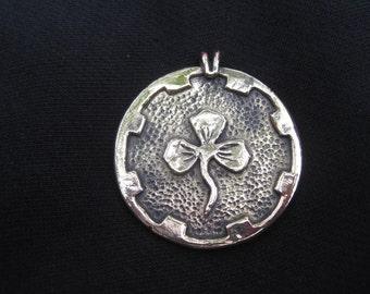 Trefoil medallion Kingdom of the Outlands SCA - bronze