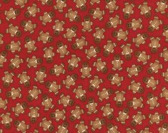 Gingerbread Men - 1 Yard Cut -Timeless Treasures Fabric -Quilting Fabric - Christmas Fabric - Cotton Fabric