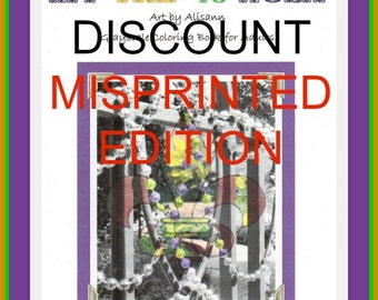 SPECIAL DISCOUNT -My Trip to NOLA - Misprinted Edition - Grayscale Coloring Book - Unbound or Bound