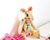 Hand painted fibre art mouse.