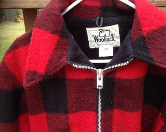 Vintage Woolrich Plaid Wool Hunting Jacket  mens Large L