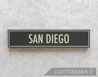 SAN DIEGO City Sign - Hand Painted on Wood