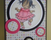 Girl First Birthday Card