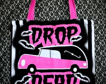 S A L E Drop Dead Zipper Canvas Bag