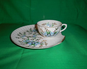 One (1), Porcelain Snack Plate and Cup, from Royal M-Mita, of Japan.