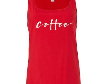 COFFEE Printed Ladies Vest Tank Top