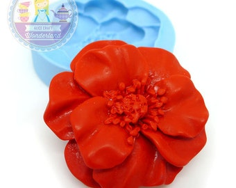 Flower Cabochon 40mm  Bakery Mould Silicone Mould Push Mould Flexible Mould 300L* BEST QUALITY