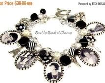 ON SALE Coco Chanel Charm Bracelet Jewelry, Picture Charm Bracelet, Photo Charm Bracelet, French, Paris, Famous Women