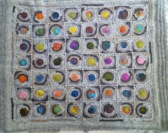 Crochet baby blanket,gift for newborn, knit baby blanket, wool baby blanket,free shipping