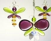 Purple Butterfly Mobile Crystal Suncatcher Kids Mobile Teachers Gift Glass Fairy Mobile Hanging Crystal Nursery Decor Gift For Her Ornament
