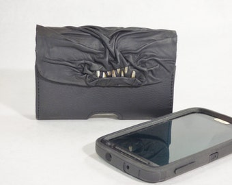 Necronomicon Phone Case Black Leather Phone Accessory Large