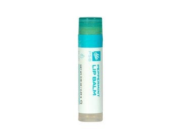 Peppermint Lip Balm - Vegan - Dry Lip Care - Organic Ingredients. Certified Cruelty-Free by Leaping Bunny.