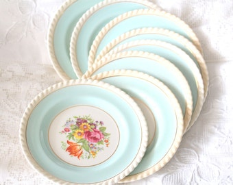 Vintage English Dessert Plate by Old English Johnson Bros. Cottage Style Tableware, Tea Party, Replacement China, Beach Decor