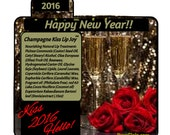 Personalize Chapstick Lip Balm Nourishing Happy New Yearchampagne kiss Bridal Shower Favors Customize Party Bachelorette Pura Gioia