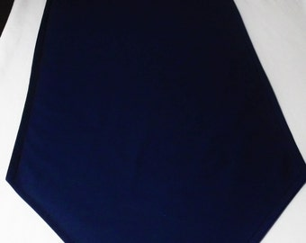 Solid color NAVY table runner, blue wedding table linens, custom lengths and colors available, made to order