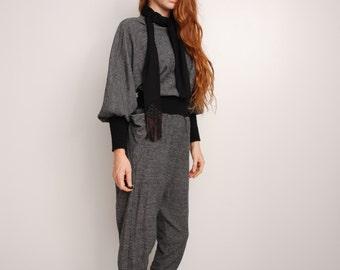 80s wool jumpsuit womens small medium large