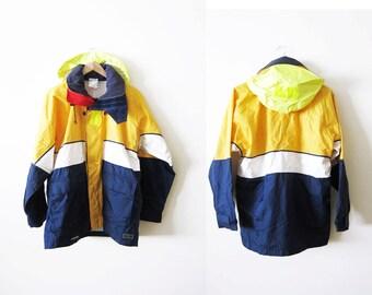 90s windbreaker / 90s hip hop clothing / hiking jacket / hooded jacket / oversized