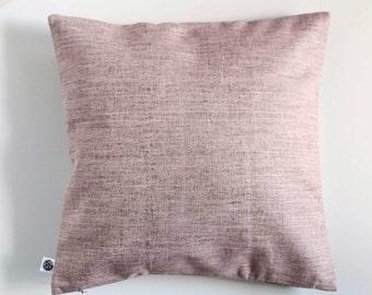 Blush pink pillowcase - outdoors pillow - modern cushion - balcony decorative linen pillow - pillow cover  - 0406