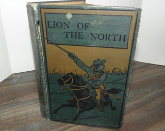 Vintage Lion Of The North by G.A. Henty  Book ca. 1900 Thirty Years' War Gustavus Adolphus Huns Illustrated