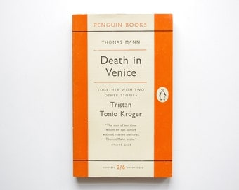 Death In Venice by Thomas Mann - Classic Orange and White Penguin Books