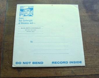 1964 33 Record Promo From Ben Cartwright of Bonanza & M. K. Smith Chevrolet Advertising, SEALED