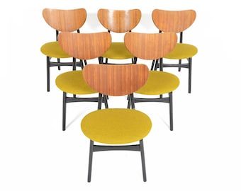 Set of Six G Plan Mid Century Modern Librenza Dining Chairs