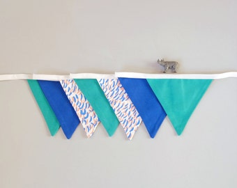 Garland, Home decoration, Blue Pelage, 7 flags